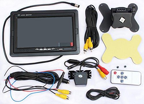 LotFancy Car Vehicle Backup Camera & Monitor Rear View Parking Assistance System, Waterproof, Night Vision, 7