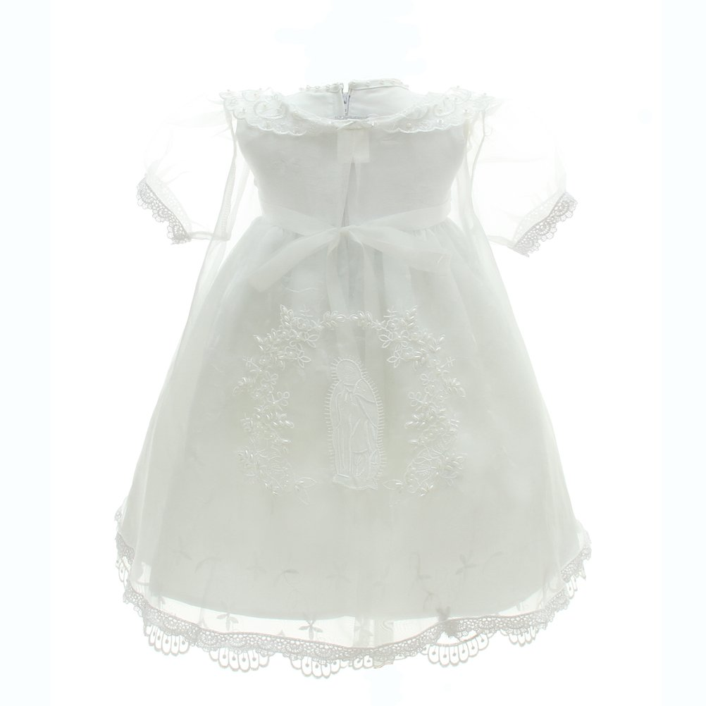 Baby Girl 3PCS Christ Dress Hand Embroidery Cross Baptism Party Dresses for Baby Girls