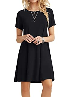Ivay Womens Plunging V Neck Plain Short Sleeve Beach Cover Up
