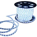 AMNA SHING LED Rope Lights, 120V Waterproof LED String Lights for Indoor, Outdoor, Backyards, Garden and Party Decoration (White 150ft)