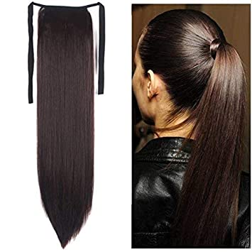 Drawstring Ponytail Extensions Tie Up Ponytail
