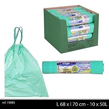 100 bolsas de basura 50 l Biodegradable verde para papelera ...