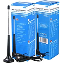 August DTA206 Digital TV Extendable Antenna - Portable Indoor/Outdoor Aerial for USB TV Tuner / Digital Television / DAB Radio - With Magnetic Base and Extendable Rod