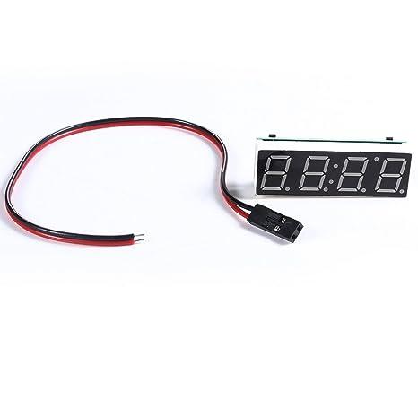 Reloj 3 en 1 con termómetro y voltímetro digital para coche de