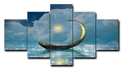 Nnngt 5 Painel Dos Desenhos Animados Lua Noite Cartazes E Copias