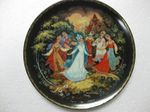 Kholui Art Studios-''A Dance Of Friendship'' 5th In A Series Of 8 ''The Legend Of The Snowmaiden''- Limited Edition Collector's Plates Created In Russia-7.5'' Diameter by Kholui
