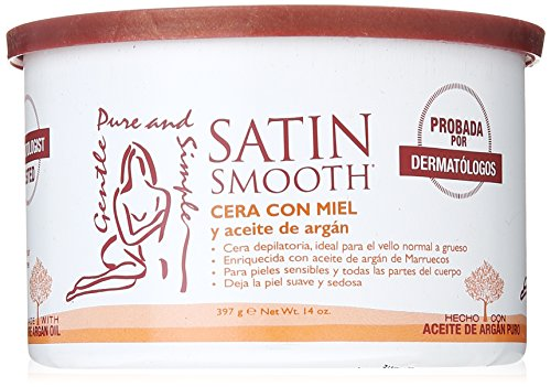 SATIN SMOOTH Honey Wax with Argan Oil, 14 oz ()