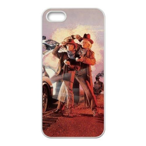 Back To The Future coque iPhone 5 5S Housse Blanc téléphone portable couverture de cas coque EBDOBCKCO11169