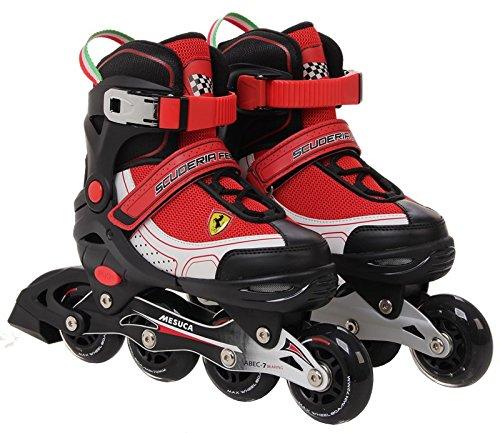 Ferrari Inline Skate, White/Red, Size 34-37