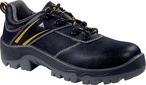 Delta Plus- Platoon S1p Src Chaussures Basses Cuir Croupon PigmentÉ Noir/jaune- S1p Src-platospnj39