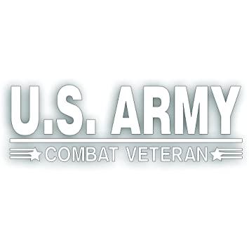 12 INCH decal USA US MARINES COMBAT VETERAN Marine Vet decal sticker