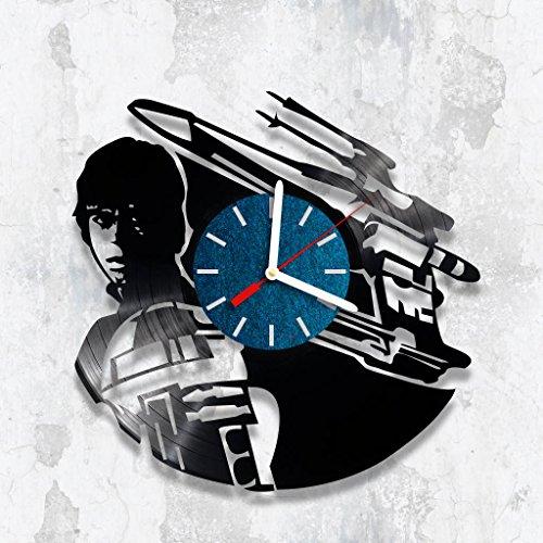 Vinyl Clock, Wall Clock Star Wars, Handmade Clock, Home Decor, Girt For Child, Star Wars Fan, Birthday Gift