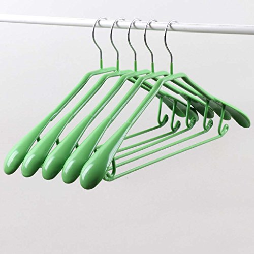 PVC Clothes Rack Wardrobe Hanger No Trace Hanger Non-slip Metal Dipping Color Dip Plastic Hangers Drying Bearing 5.5CM Wide Shoulder Type Household Type (Color : 7) by Drying Racks