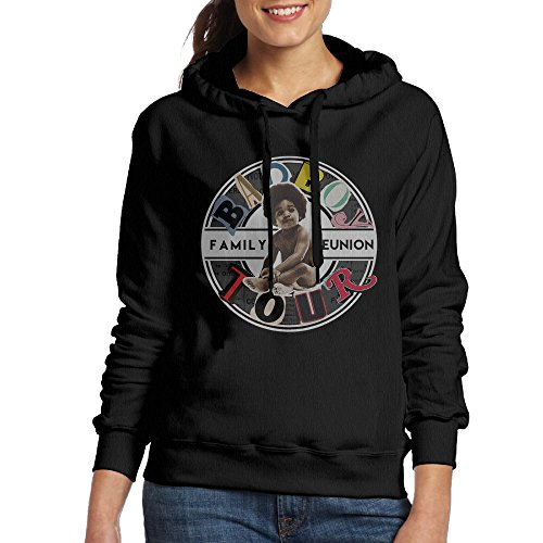 [Bad Boy Family Reunion Tour Logo Women's Hoodies XL Black] (Assassins Creed Unity Costume Customization)