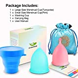 ECOAMOR Menstrual Cups, 2-Pack Tampon