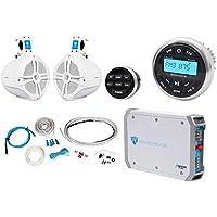 Rockville RGHR2 Marine Bluetooth Receiver+Remote+8 Wakeboards+2Ch Amplifier+Kit
