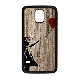 Banksy Girl With Balloon Black Phone Case for Samsung S5