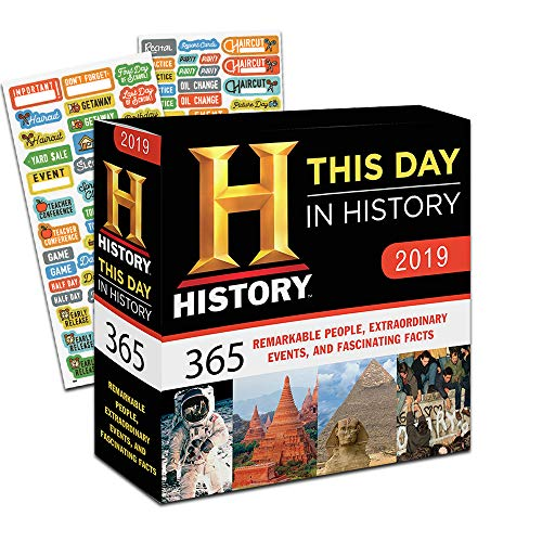 (This Day in History 2019 Calendar, Box Edition Set - Deluxe 2019 History Channel Day-at-a-Time Calendar with Over 100 Calendar Stickers (History Gifts, Office Supplies))