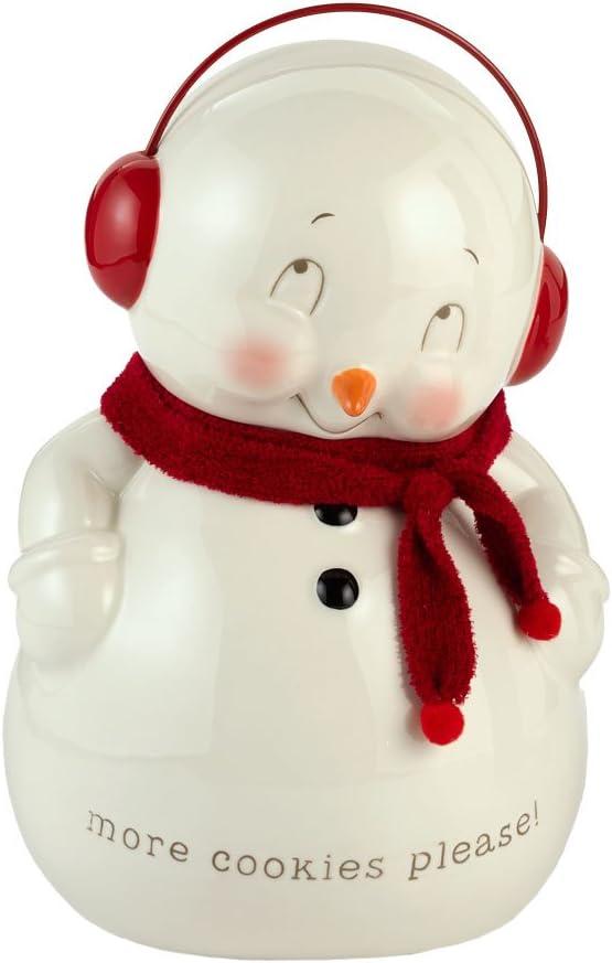Amazon Com Department 56 Snowpinions Snowman Cookie Jar