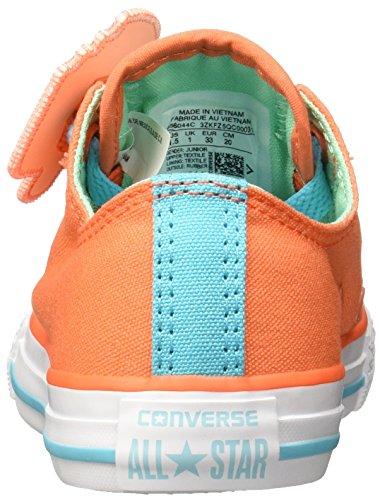Converse Kinder Schuhe Chuck Taylor All Star Loopholes Ox Wild Mango Green Glow (orange) Orange (Wild Mango Green Glow-White Wild Mango Green Glow-White)