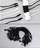 950pcs Hang Tag Polyester String Snap Lock Pin Loop Fastener Hook Ties Easy and Fast to Attach, 7 Inch Long Block