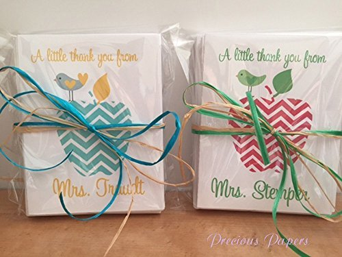 Personalized Teacher Note Cards - Personalized Teacher note cards or thank you notes makes a great teacher gift