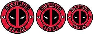 Deadpool Maximum Effort Vinyl Sticker for Laptop mackbook, car Truck Helmet Water Bottle Bike Value Pack of 3