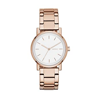 DKNY Womens NY2344 SOHO Rose Gold-Tone Stainless Steel Watch