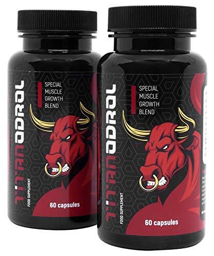 TITANODROL Premium – Das Bodybuilding-Supplement, 2er Pack, erhöht den Testosteron- & Wachstumshormonspiegel, schneller…