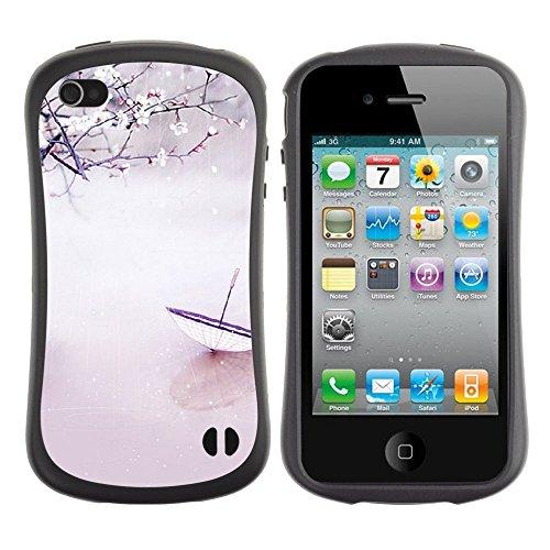 Apple Iphone 4 / 4S [Plum Umbrella]
