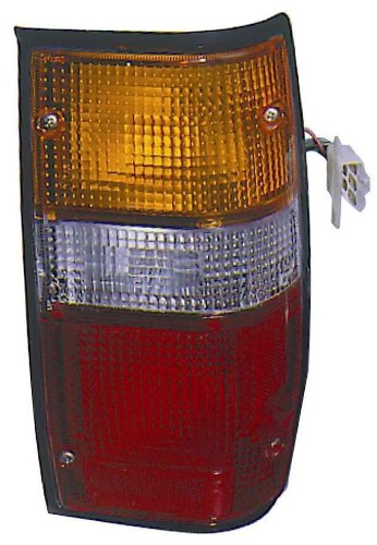 Mitsubishi Pickup Truck 87-96 / Dodge Ram Truck 50 87-93 Tail Light Assembly Rh US Passenger Side BLK