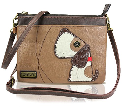 Light Mini Zipper Leather Handbag Small Brown Crossbody Doggie Pu Multi Shoulder Adjustable Strap Chala Purse dB7qd