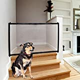 Magic Gate for Dog & Pets, Lightweight Foldable Portable Mesh Safety Enclosure Fence Guard, for Doorway Hallway Stairwell Outdoor Indoor Anywhere Review
