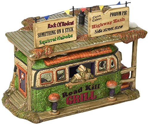Department 56 Snow Village Halloween Road Kill Grill Lit House, 6.93