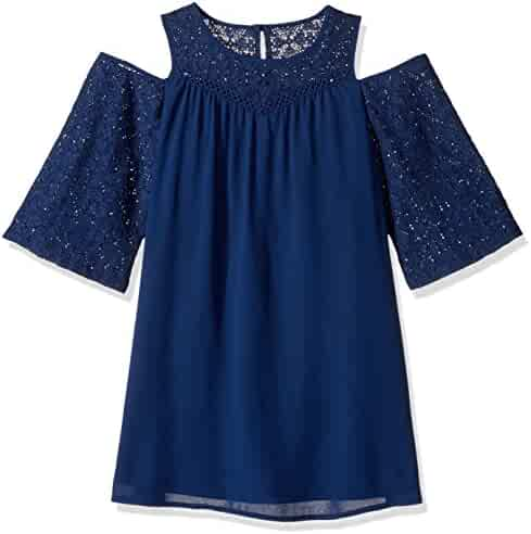 My Michelle Big Girls' Cold Shoulder Crochet Dress