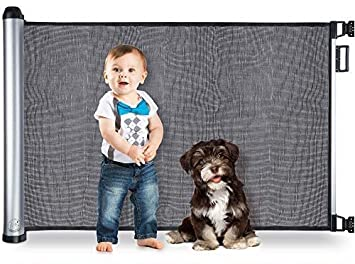 Retractable Baby Gate Extra Wide Mesh Dog Pet Outdoor Indoor Safety 71 x 33 inch