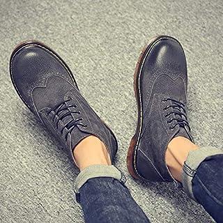 LOVDRAM Stivali da Uomo Martin Boots Stivali Invernali da Uomo Alti per Aiutare Le Scarpe da Uomo negli Stivali da Uomo Wild Tooling Autumn