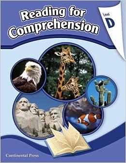 Reading Comprehension Workbook Reading For Comprehension Level D