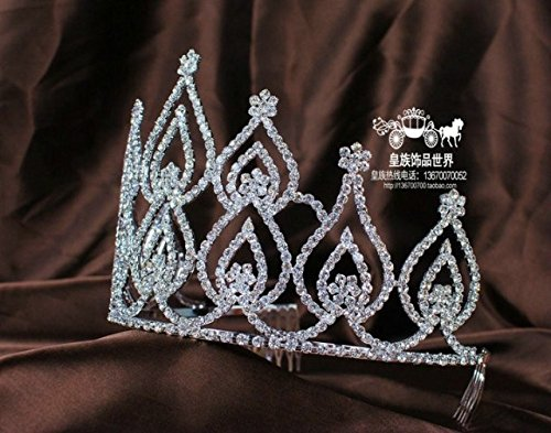 Quantity 1x Custom_ Crown Tiara Party Wedding Headband Women Bridal Princess Birthday Girl Gift Princess _water_imported_from_EuropeAmerica_drill_ beauty model Bridal _Photo_story_ Wedding _awards_ la