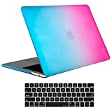 MacBook Pro 13 Case 2018 2017 2016 Release A1989/A1706/A1708, ProCase Hard Case Shell Cover and Keyboard Skin Cover for Apple MacBook Pro 13 Inch with/Without Touch Bar and Touch ID -Rainbow
