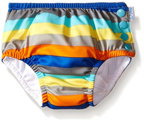 アイプレイ iplay オムツ機能付 水遊び用パンツ スイムダイパー スイミングパンツ 男の子 L:18ヶ月/10-11.5kg, GrayMultistripe