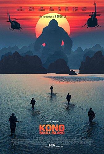 Kong Skull Island 2017 Original Movie Poster - Dbl-Sided - Tom Hiddleston - Samuel L Jackson - John Goodman - Brie Larson - Jing Tian - John Ortiz - John C Reilly - Terry Notary