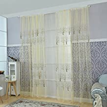 Norbi Voile Tulle Room Window Curtain Sheer Panel Drapes Tree