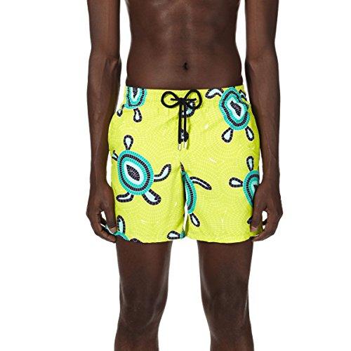 a159d52d49 Vilebrequin Men's Moorea Mosaic Turtles Swim Trunk, Chartreuse, ...