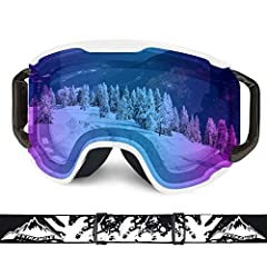 Are you still worried about not finding a suitable ski goggles?Extra Mile ski goggles feature enhanced PC lenses. Protect you from strong sunlight, strong winds and dirty sand during skiing, snowboarding, snowmobiling and land cycling. The sp...