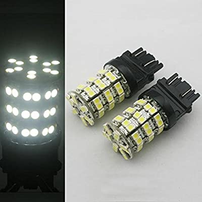 Partsam White 60-SMD LED Bulbs Backup Reverse Lights 3157