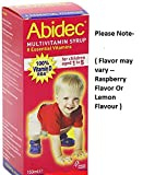 Abidec Multivitamin Syrup With Omega 3 – 150ml ( Flavor may vary — Raspberry Flavor Or Lemon Flavour ) -Pack-2 Review