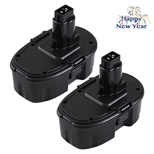 Dosctt Replace for Dewalt 18V XRP Battery DC9099 DC9096 DC9098 DW9099 DW9096 DW9098 DC9181 Cordless Drill 2.0Ah NiCad Battery 2 Pack