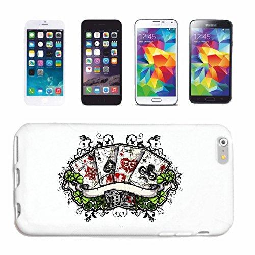 """cas de téléphone iPhone 7+ Plus """"POKER CASINO BIKER SHIRT CARD GAME CUBE GAME GAMBLING"""" Hard Case Cover Téléphone Covers Smart Cover pour Apple iPhone en blanc"""