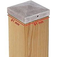 Tapas para postes PYRAMIDE de aluminio – Dimensiones